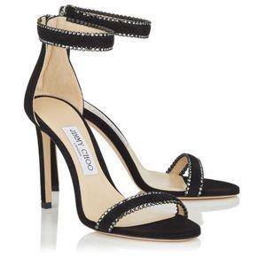 Black suede jimmy choo dochas heels